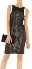 KAREN MILLEN Black Lace Embroidery Cocktail Wedding Party Pencil Dress, Size 8