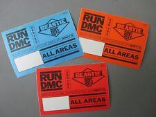 Beastie Boys & Run Dmc satin cloth backstage passes 3 rectangles !