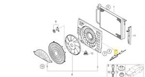 BMW Engine Cooling Fan Resistor ACM 64121388069