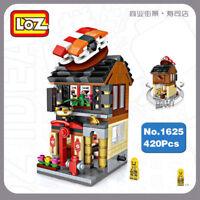 Bausteine Gebäude Sushi Shop Restaurant Puppenhaus DIY Straße Modell 420PCS