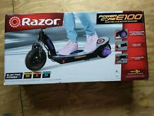 Razor Power Core E100 Electric Scooter with Rear Wheel Drive Purple