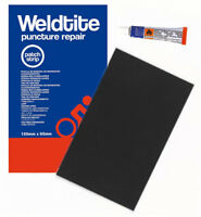 WELDTITE BIKE INNER TUBE PUNCTURE REPAIR KIT BUTYL RUBBER PATCH STRIP + GLUE
