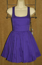 JACK for BB DAKOTA - Purple - Sexy & Flirty - Pleated Cotton Dress sz S *NEW TAG