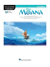 Instrumental Play-Along MOANA Learn to Play HORN MUSIC BOOK & Online Audio