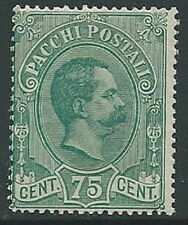 1884-86 REGNO PACCHI POSTALI 75 CENT MNH ** - G236