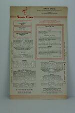 Vintage New York City Stork Club Paper Chinese Menu