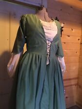 Colonial 18th Century Revolutionary 1700s Georgian Williamsburg Gown Polonaise