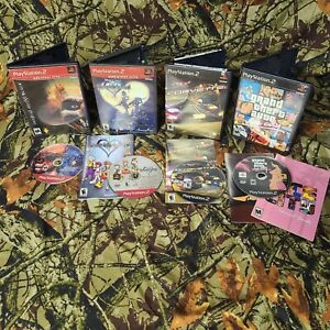 Lot of 4 PS2 Game Twisted Metal Black GTA Vice City Kingdom Hearts PlayStation 2