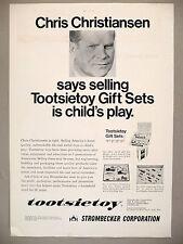 Tootsietoy Gift Sets PRINT AD - 1967 ~ toys ~ Strombecker ~ Chris Christiansen