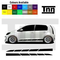 Side Stickers Stripes Decals For VW Volkswagen Up! UP GTI Skoda Citigo Seat Mii