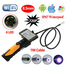 For iPhone iOS Android Borescope Inspection Endoscope Wireless Wifi HD Camera 1M