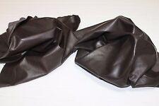 Italian Lambskin leather skins hides WASHED DARK BROWN 12sqf #A2450