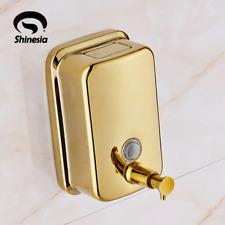 Liquid Soap dispenser pump Gold Finish Wall Mounted Dispenser Bathroom Liquid