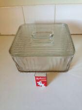 Vintage Depression Glass Massive Cake / Storage Box Kitchenalia Retro Rare 1930s
