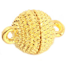 40pcs Gold Plated Copper Round Shape Magnetic Clasp Charms Jewelery Craft DIY LC