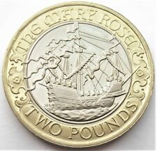 UK Elizabeth II 2011  Mary Rose PROOF Two Pounds BU