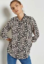 7445e61b9c76c3 Dorothy Perkins Blush Floral Print Tab Roll Sleeve Shirt UK Size 12 Td094  BB 20