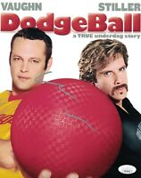 VINCE VAUGHN Signed DODGEBALL 8x10 In Person Autograph JSA COA
