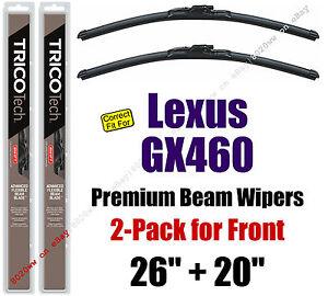Wipers 2-Pack Premium Wiper Beam Blades - fit 2010+ Lexus GX460 - 19260/200