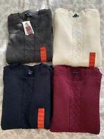 Nautica Women's Tunic Cable Sweater 100% Cotton