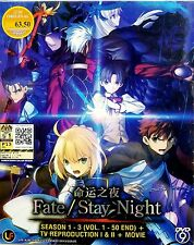 FATE/STAY NIGHT (SEASON 1-3) - COMPLETE ANIME TV SERIES DVD (1-50 EPS)