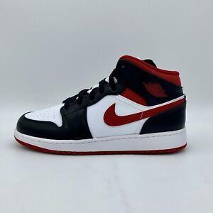 Nike Air Jordan 1 Mid Metallic Gym Red Black White GS Sneaker DJ4695-122 NEU