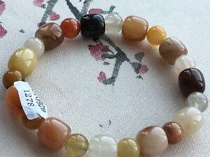 Certified natural A jade Golden silk jade 金丝玉8.5mm beads luck bracelet 1278