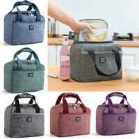 Thermal Insulated Lunch Bag Oxford Cooler Bag Picnic Pouch Waterproof Lunch Box