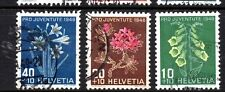 Switzerland (2995) 1948 Pro Juventute Charity Stamps set Used Sg J125-7 Cata £15