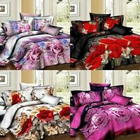 Bedding Set 3D Floral Design Duvet Set .Double ,King Complete Set.