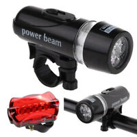 Waterproof 5 LED Mountain Bike Bicycle Cycling Front Rear Lights Super Bright FK