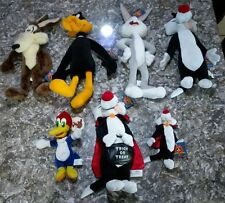 "Looney tunes NANCO Plush 14"" Stuffed Animals Trick or treat Sylvester lot"
