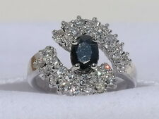 Sparkling Black and White Fashion Ring Size 7