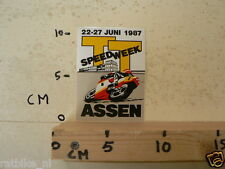 STICKER,DECAL DUTCH TT ASSEN 1987 LUCKY STRIKE SPEEDWEEK 1987 ASSEN NO 1 A