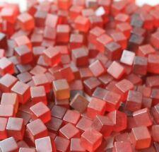 Bakelite USA USA 1950s  red  cubes  9mm  300 grams no cracks