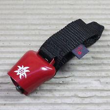 ebos AlpenHupe rot mit weißem Edelweißmotiv Montage am Lenker