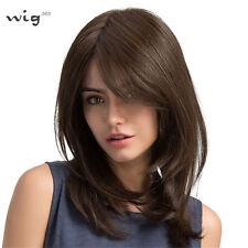 LMJF387 medium new design fashion straight dark brown bangs health hair wigs wig