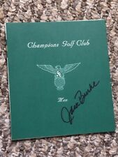 New listing Jack Burke signed champions golf club Scorecard