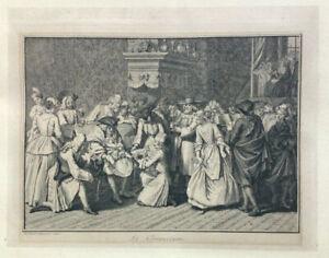 1722 Engraving Circumcision BERNARD PICART Judaica Jewish Art Print / RARE