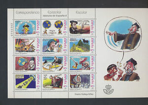 XC52513 Spain history comics cartoons XXL sheet MNH