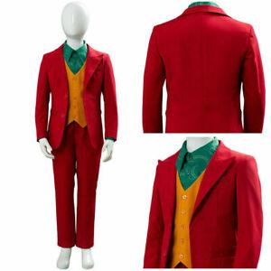 Kid Joker Arthur Fleck Joaquin Phoenix Cosplay Costume Halloween Unfirom Suit
