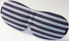 1Pc stripe 3D Soft Padded Shade Cover Rest Relax Blindfold Travel Eye Mask Sleep