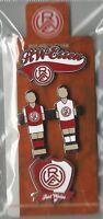 Pin Anstecknadel Rot Weiss Essen 3er Set Logo Kicker Wappen 2015 NEU