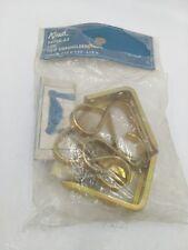 Kirsch Drapery 1pr Tulip Swagholders Holdback Hardware Brass Finish 5470E-63
