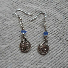 Earrings ~ Tibetan Silver ~ Ladybug Charm