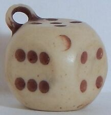 VINTAGE DICE PLASTIC GUMBALL CHARM GAME PIECE
