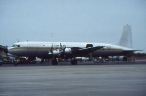 35mm Aircraft Slide Com-Tran N16465 Douglas DC-7 1979
