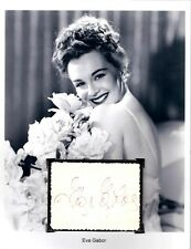 Eva Gabor Autograph Green Acres The Beverly Hillbillies Artists and Models