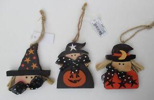 Q 1x COUNTRY HALLOWEEN ORNAMENT witch pumpkin your choice ganz
