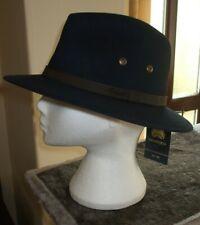 Men's Failsworth Wide Brimmed Cotton Ambassador Hat Colour Navy Size Medium